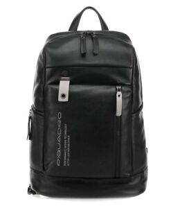 New! Piquadro Active Leather Men's Backpack, Black CA4545DTN