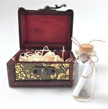 Message in a Bottle + Wooden Chest + Personalised Love Poem = Romantic Gift