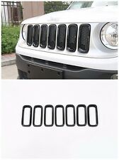 For Jeep Renegade 15-2017 -Black Car Front Grille Inserts Mesh Grill Accessories