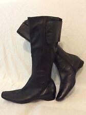 Stradevarie Black Knee High Leather Boots Size 37