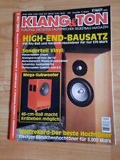 Klang und Ton -  Klang & Ton, Lautsprecher Selbstbau Magazin 2/99 !!!