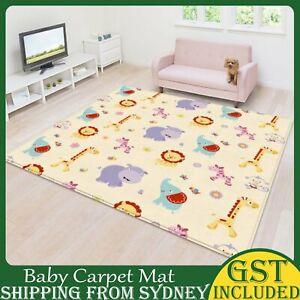 200/180cm Non-Slip Baby Kids Play Mat Floor Rug Picnic Carpet Puzzle Pad AU 2021