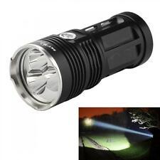 8000LM Waterproof SkyRay 3x CREE XM-L T6 LED Light LED Flashlight Torch Black