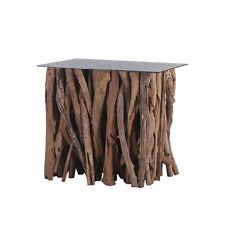 Teakholz Couchtisch Bistrotisch Tisch Beistelltisch Teakholzäste 110x80cm
