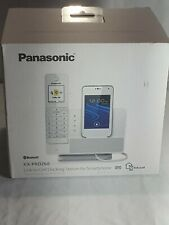 WHITE Panasonic Stylish Home Phone Answering Link2Cell BT System +2 NEW Handsets
