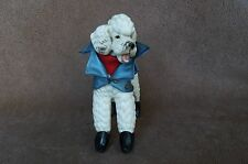 VTG White LEFTON Fancy Outfit & Boots POODLE Dog Japan