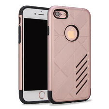 For Apple iPhone 7 Hybrid 2 Piece TPU + PC Shockproof Multi Color Case
