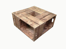 Handmade Rustic Wooden Crate Coffee Table for Home & Garden