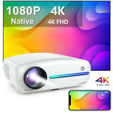VIVIMAGE Projektor Beamer 4K LED Heimkino HDMI VGA 8000LM Full HD Multimedia DE