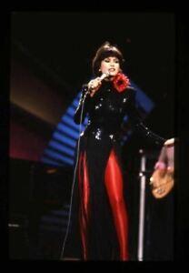 Marie Osmond red leggings in concert Original 35mm Transparency