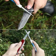 Stainless Steel Knife Sharpner Pen Fishing Hook Favor Multi-Purpose Blue Silver