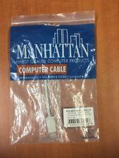 Manhattan 08-CU-SM PS/2 KEYBOARD CABLE 6.5' MINI DIN 06 - MINI DIN 06 M/M.