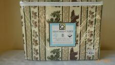 Living Quarters Fleece Twin Sheet Set Lodge Pattern New