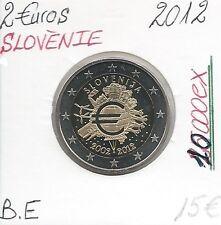 2 Euros - SLOVENIE - 2012 // Qualité: BE - 10 ans de circulation (10 000 Ex)