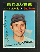 Marv Staehle Braves signed 1971 Topps High # 663 baseball card Auto Autograph