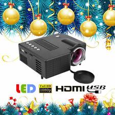 Multimedia HD 1080P Mini LED Projector Home Theater Cinema HDMI VGA AV USB SD GS