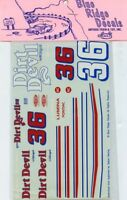 Blue Ridge Decals 1:24 1:25 Dirt Devil #36 Dupont Lumina Pontiac  #1008U