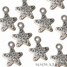 20 Tibetano Plata Antigua just4you Star encanto colgante Beads Tamaño 14mmx11mm ts57