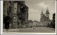 PRAHA Prag alte Postkarte ~1940 Altstädter Ring Partie