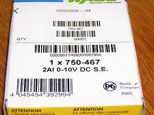 NEW - WAGO 750-467 System 750 2-channel AI 0-10V DC I/O factory sealed box