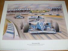 Damon Hill Print Silverstone Grand Prix Formula 1 Schumacher F1 Motor Racing