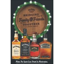 JACK DANIELS    HOLIDAY POSTER  24 BY 36 GLOSSY 100# PAPER