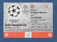 Orig.Ticket  Champions League  1999/00  BAYERN MÜNCHEN - REAL MADRID  1/2 FINALE