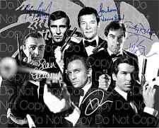 All 6 James Bonds signed 007 Spectre Dr. 8X10 photo picture poster autograph RP