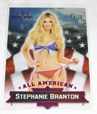 2015 Benchwarmer STEPHANIE BRANTON Signature #11 ALL AMERICAN Pink/25 PLAYBOY