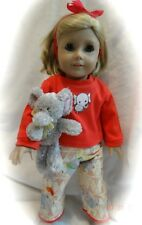 """18"""" dolls """"Elephant"""" Pj's, Fits all 18"""" dolls, slippers included"""