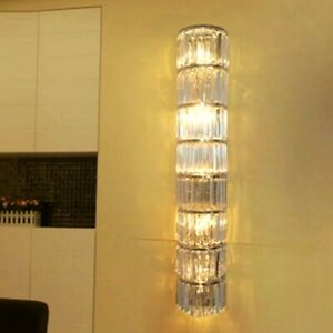 80cm Modern Hallway Crystal Wall Lamp Sconce Living Room Led Wall Light Fixtures