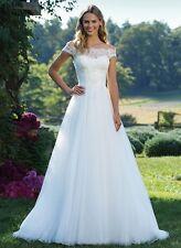 New White/Ivory Lace Wedding Dress Bridal Gown Custom Size:6 8 10 12 14 16 18+++
