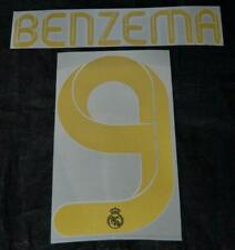 Real Madrid Benzema 9 Football Shirt Name Set Home/away 2011/12 player size