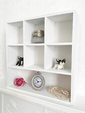 Shabby Chic Unit Small Shelf Storage Display Cabinet Cupboard Pigeon Hole White