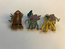 Pokemon Set of all 3 Legendary Beast Collector Pins - Entei Raikou Suicune!!