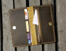 leather men clutch long wallet iPhone 6 7 plus wallet phone case magnetic snap