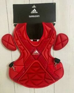 """Men's Adidas 17"""" Pro Series 2.0 Catcher's Chest Protector Gear S99089 Red Rare"""