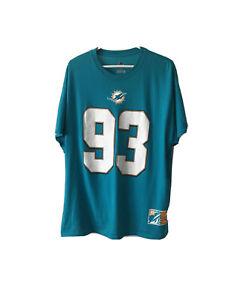 Majestic XL Miami Dolphins SUH # 93 Ndamukong Ngwa SUH Fan  T-Shirt jersey Aqua