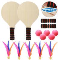 Beach Tennis Pingpong Cricket Set Badminton Racket Paddles Paddle Ball Game