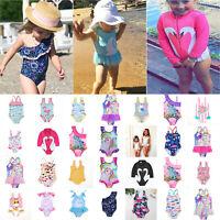 Kids Girls Baby Swimwear Bikini Swimsuit Summer One-piece Beachwear Bathing Suit