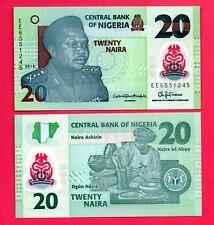 NIGERIA 20 NAIRAS  !! NOVEDAD  !! 2018 P-NEW SC / UNC    P-31