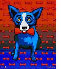 "Blue Dog George Rodrigue    ""Blue Dog does the Red Tie""     MAKE  OFFER  BA  DSS"