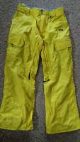 Volcom Men's Ventral Snowboard Snow Ski Pant Yellow Medium - USED - CLEAN