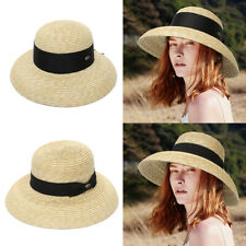 New listing Women's Brimmed Straw Sun Hats With Casual Bow Big Eaves Style Holiday Beach Cap