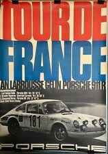 Original Poster Porsche 911R tour de France auto 1969