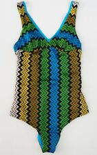 NWT Auth MISSONI MARE ZIGZAG Print One-Piece Swimsuit Bathing Suit 40 US-4/6