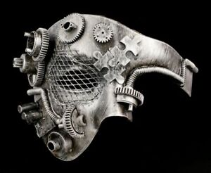 Steampunk Maske - Mechanical Phantom - Gothic Accessoire Kostümmaske Deko