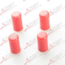 "4PCS 25mm 0.99"" Silicone Blanking Cap Intake Vacuum Hose End Bung Plug Cap Red"