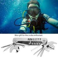 Keep Diving 8 in 1  Diving Diver Pick Valve Repair Multi-function Tool Set
