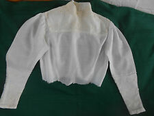 AUTHENTIC LATE 19TH. CENTURY SHIRTWAIST WITH EMBROIDERED NET LACE, GOOD COND.